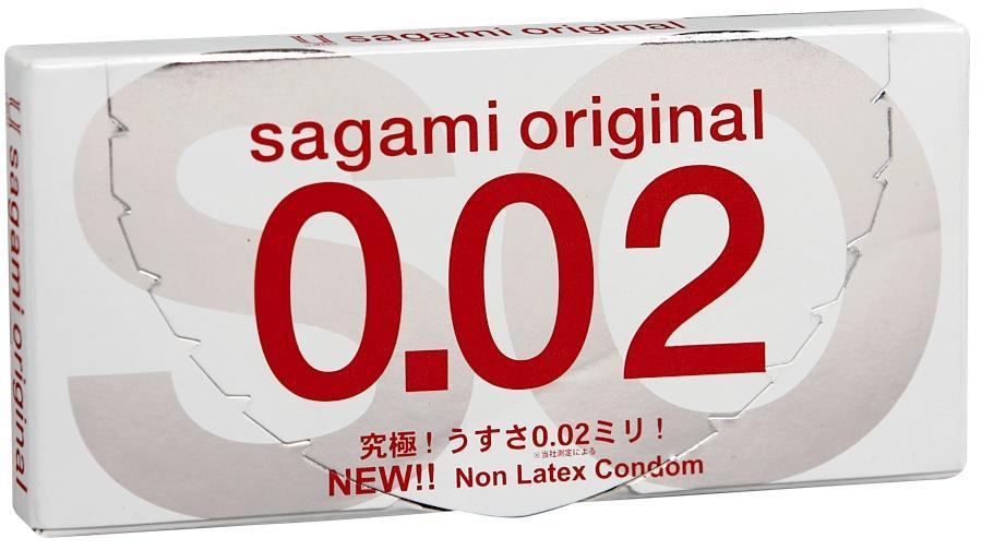 Презервативы Sagami Original 002, полиуретановые, 2шт.