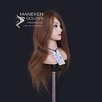 Манекен с плечами, 100% натуральный, темно-русый, 65 см