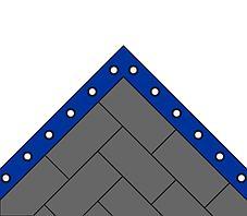 Ковер борцовский трехцветный 12х12 м с покрышкой, ПВВ 5 см, фото 3