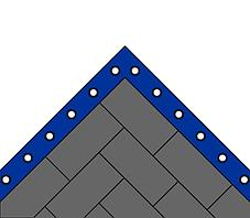 Ковер борцовский трехцветный 8,4х8,4м, маты НПЭ 4 см, фото 3
