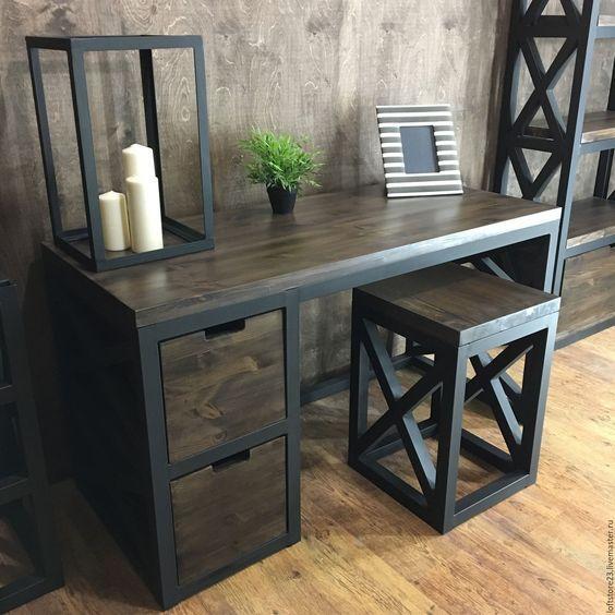 Гостинная мебель в стиле лофт - фото 6