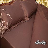 AlexRojo Простыня  AlexRojo сатин делюкс 245х245 см коричневая