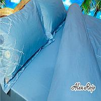 AlexRojo Простыня  AlexRojo сатин делюкс 245х245 см  голубая