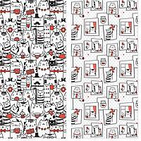 """Солнечный дом Набор вафельных полотенец """"Кошки"""" Солнечный дом  40х70 см. 2 штуки"""