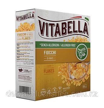 Органические кукурузные хлопья без глютена 225 гр Vitabella