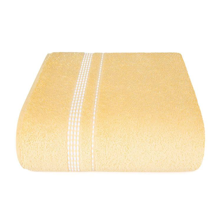 "Aquarelle Полотенце махровое  ""Лето""  светло желтое  40х70 см."