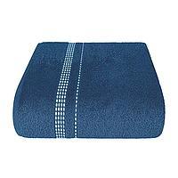 "Aquarelle Полотенце махровое  ""Лето""  темно синее  40х70 см."