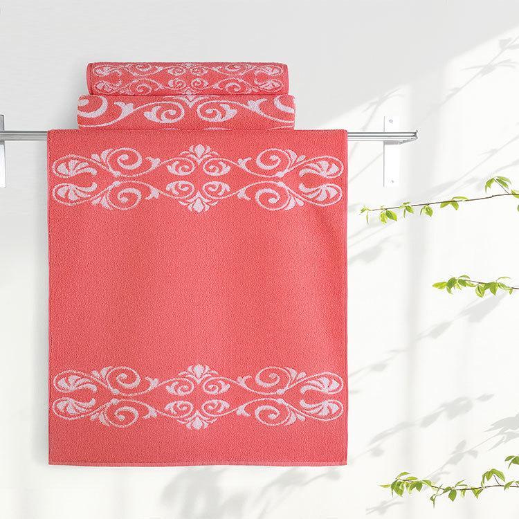 """Aquarelle Полотенце махровое  """"Шарлиз""""  35х70 см. цвет коралловый"""