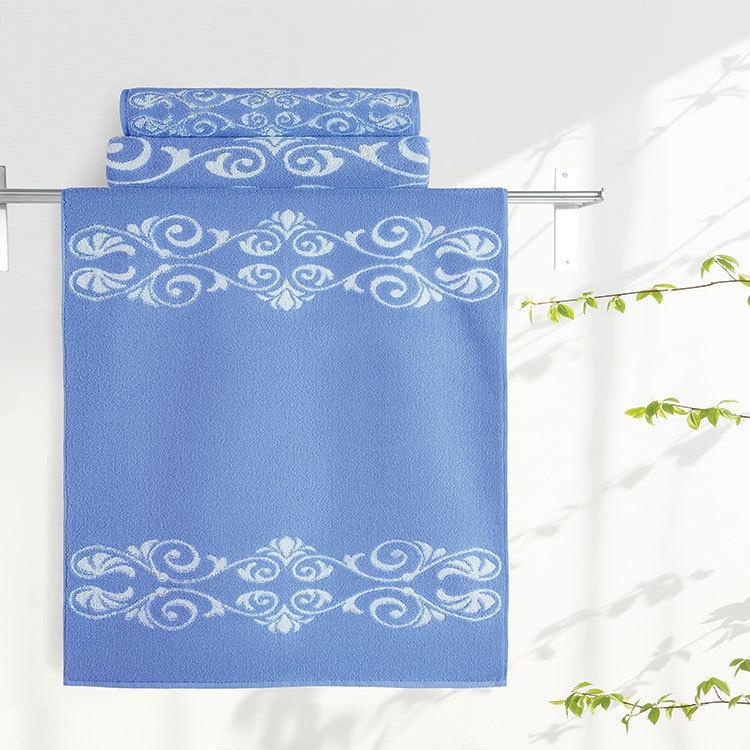 "Aquarelle Полотенце махровое  ""Шарлиз""  35х70 см. цвет синий"