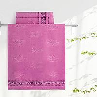 """Aquarelle Полотенце махровое  """"Лотос""""  35х70 см. цвет орхидея"""