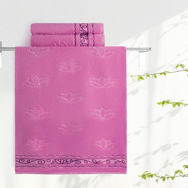 """Aquarelle Полотенце махровое  """"Лотос""""  70х140 см. цвет орхидея"""