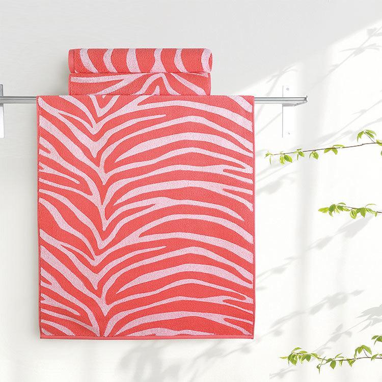 "Aquarelle Полотенце махровое  ""Мадагаскар""  35х70 см. цвет коралловый"