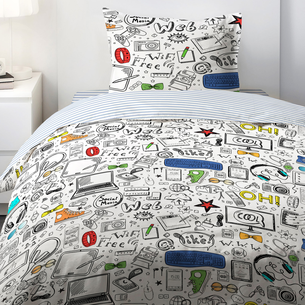 HOMY Комплект постельного белья  Скетч,  HOMY  1.5 спальный
