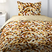 HOMY Комплект постельного белья Бежевый Пайетки,  HOMY  1.5 спальный, фото 1