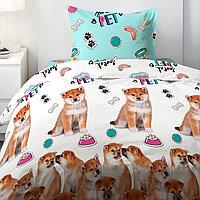 HOMY Комплект постельного белья  Щенята сиба,  HOMY  1.5 спальный