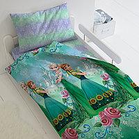 HOMY Комплект постельного белья  Анна и Эльза,  HOMY  1.5 спальный