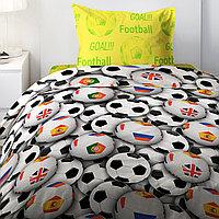HOMY Комплект постельного белья  Футбольные мячи,  HOMY  1.5 спальный