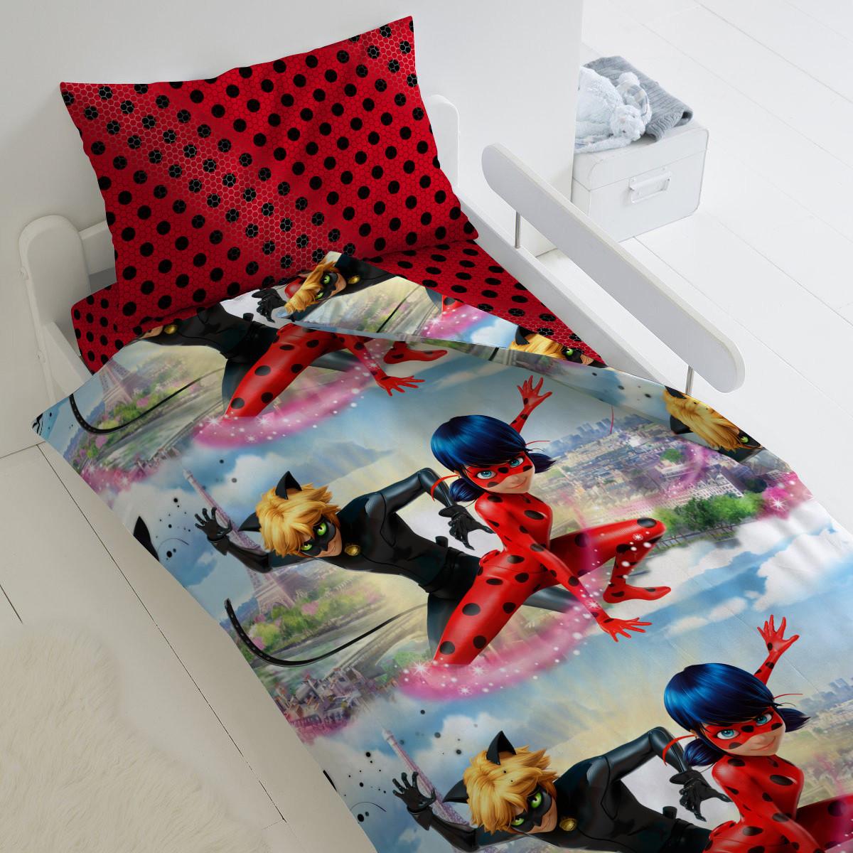 HOMY Комплект постельного белья   Леди Баг и Супер Кот,  HOMY  1.5 спальный