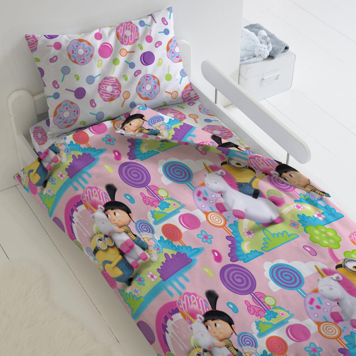 HOMY Комплект постельного белья Радужный мир  миньоны,  HOMY  1.5 спальный