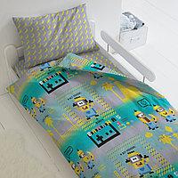 HOMY Комплект постельного белья Пиксели  миньоны,  HOMY  1.5 спальный, фото 1