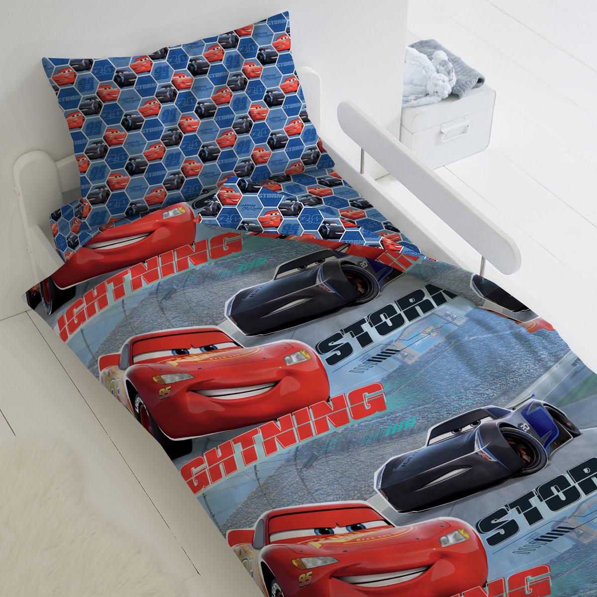 HOMY Комплект постельного белья Обгон, тачки  HOMY  1.5 спальный