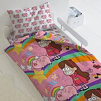 HOMY Комплект постельного белья Мейбл и Пухля, Гравити Фолз  HOMY  1.5 спальный, фото 1