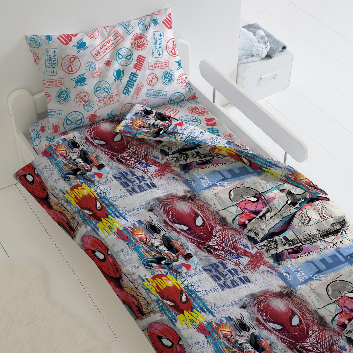 HOMY Комплект постельного белья  Арт, Человек паук  HOMY  1.5 спальный