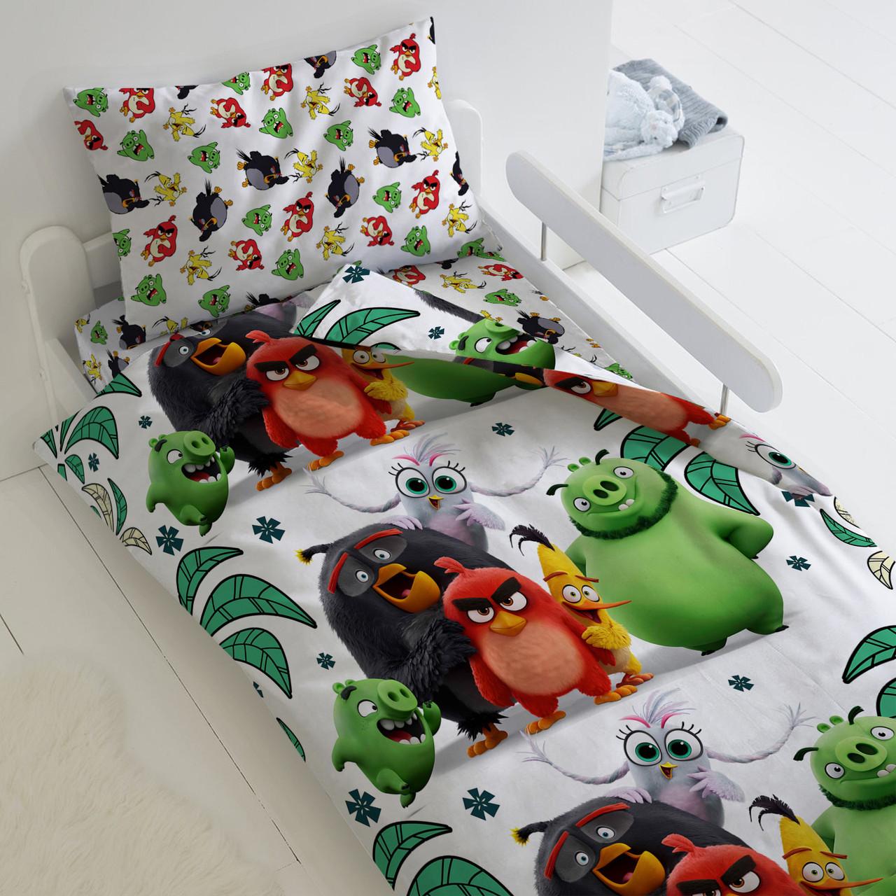HOMY Комплект постельного белья Птичий остров, Angry Birds  HOMY  1.5 спальный