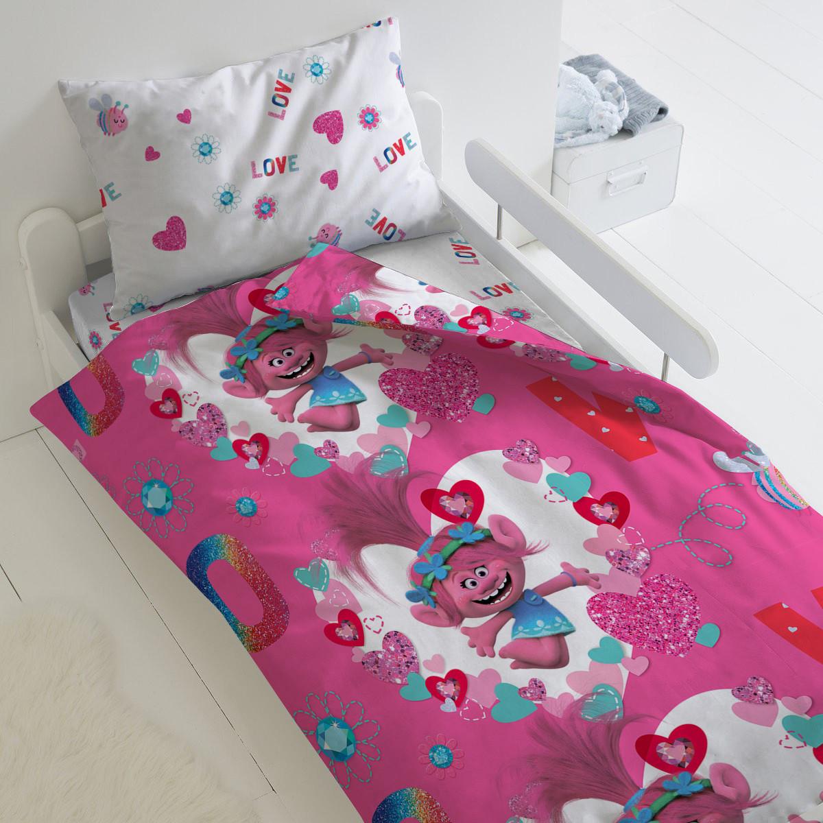 HOMY Комплект постельного белья Валентинка, Trolls  HOMY  1.5 спальный