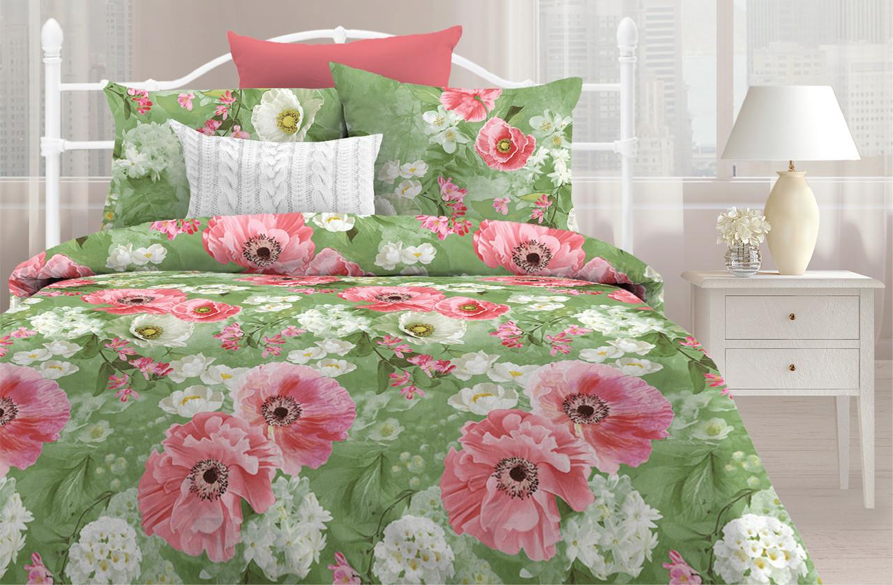Любимый дом Комплект постельного белья  Воздушные маки, 1.5 спальный