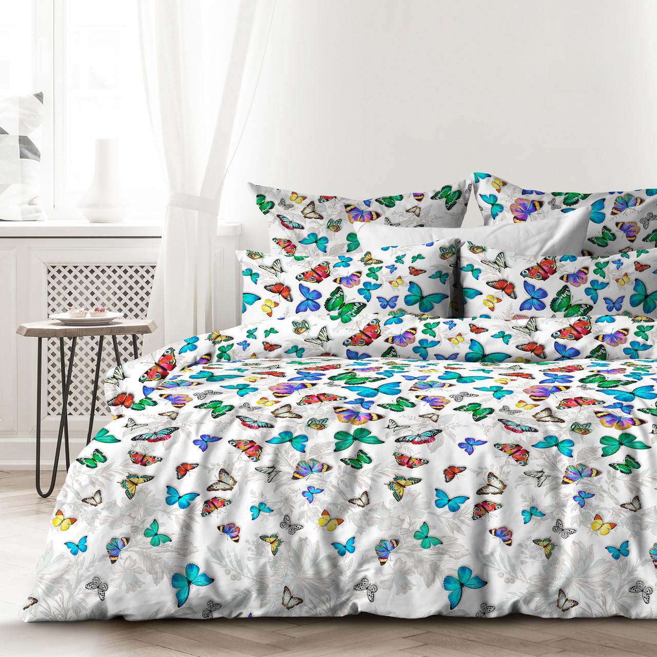 Любимый дом Комплект постельного белья Бабочки, 2 спальный евро