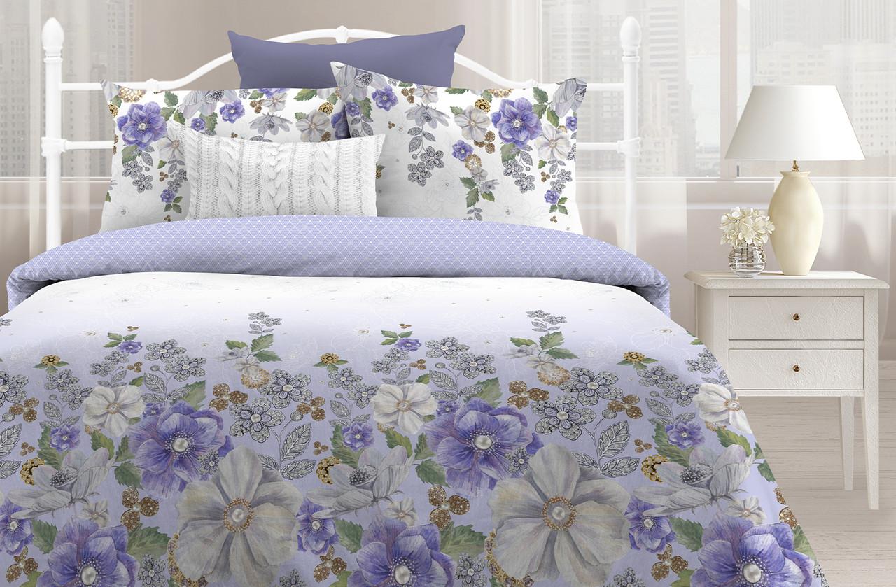 Любимый дом Комплект постельного белья Анемоны, 2 спальный евро