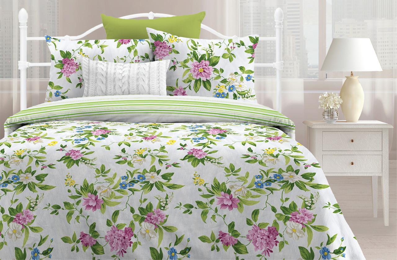 Любимый дом Комплект постельного белья Весенний флёр, 2 спальный евро