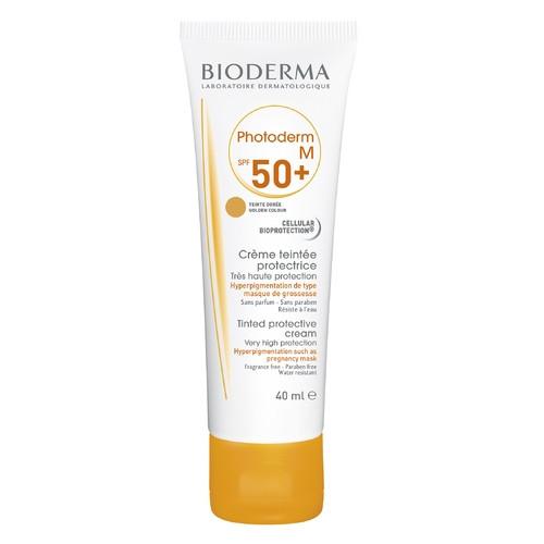 Биодерма Фотодерм М SPF50+ защита от пигментных пятен, маски беременности, тональный 40 мл.