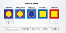 Ковер борцовский трехцветный 6,4х6,4м, маты НПЭ 4 см, фото 2