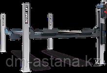 Подъемник четырехстоечный со встроенным ножничным подъемником, развал схождения  г/п 8,0 тонны SM80-60IAK