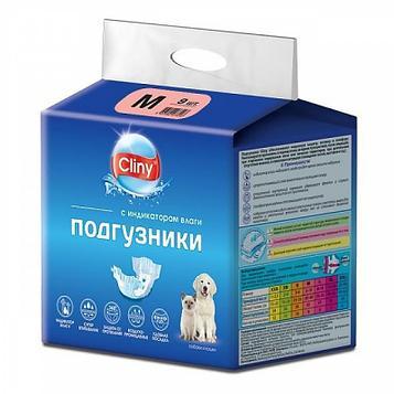 Подгузники для животных Cliny, размер М