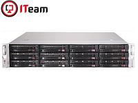 Сервер Supermicro 2U/1xGold 6242R 3,1GHz/128Gb/2x480Gb SSD/10x900Gb, фото 1