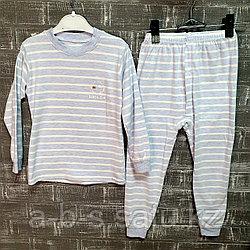 Пижама  голубая в полоску