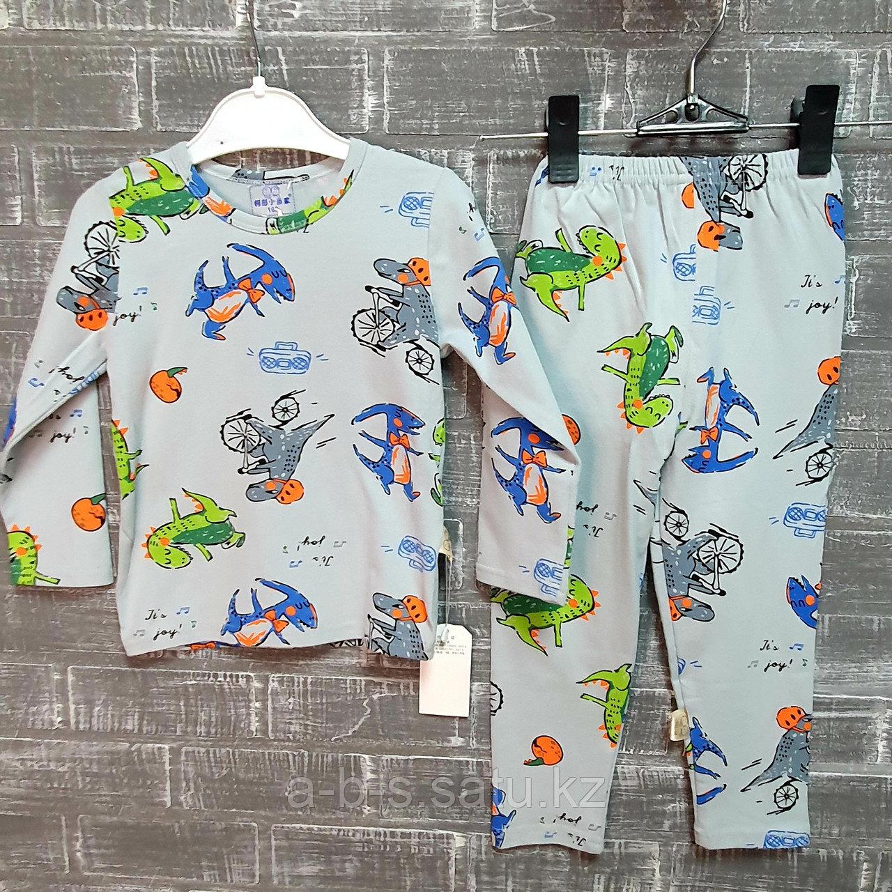 Детская пижама с динозавром