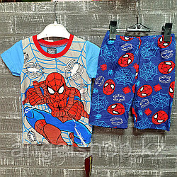 Детская пижама с коротким рукавом человек паук