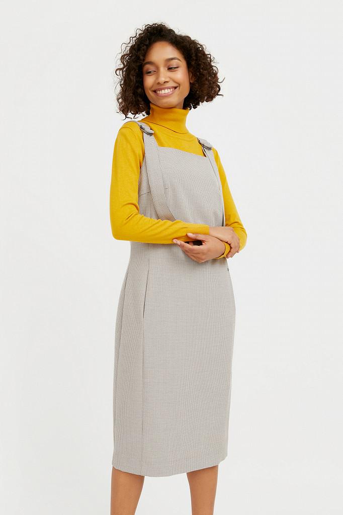 Платье женское Finn Flare, цвет светло-коричневый, размер XL - фото 1