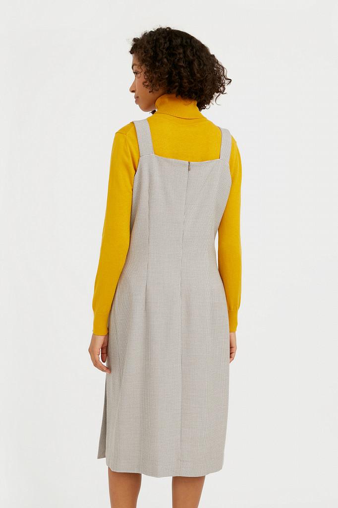 Платье женское Finn Flare, цвет светло-коричневый, размер XL - фото 4