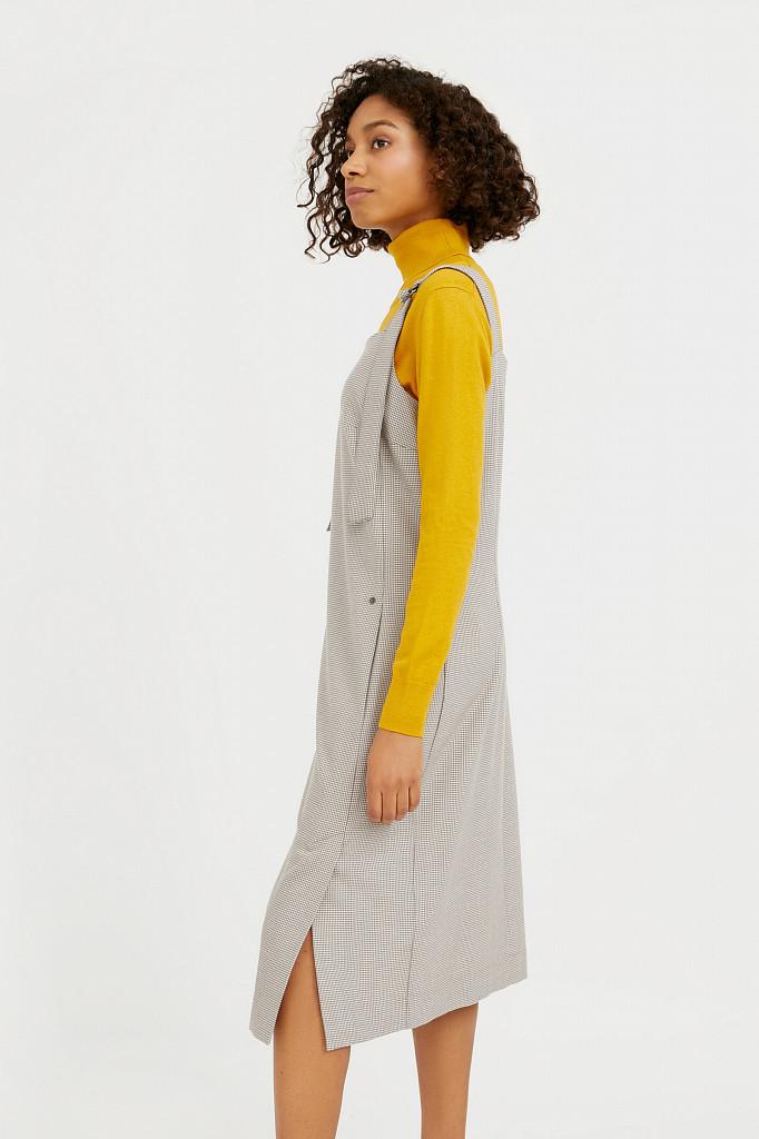 Платье женское Finn Flare, цвет светло-коричневый, размер M - фото 3