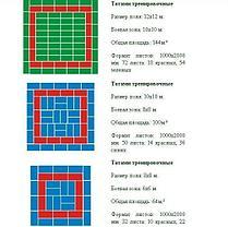"""Татами для дзюдо """"МАСТЕР"""" 180 -200 кг/м3 дно закрытое антислип ромб 200*100*4см, фото 2"""