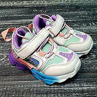 Кроссовки белые для девочек (омбре)