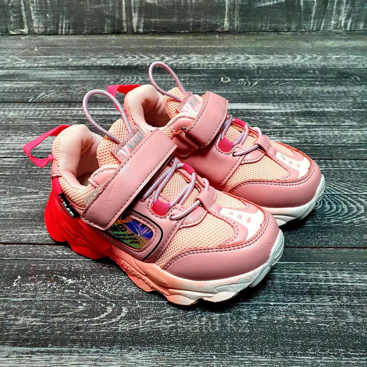 Кроссовки розовые для девочек (омбре)