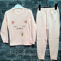 Детская пижама розовая с кошечкой