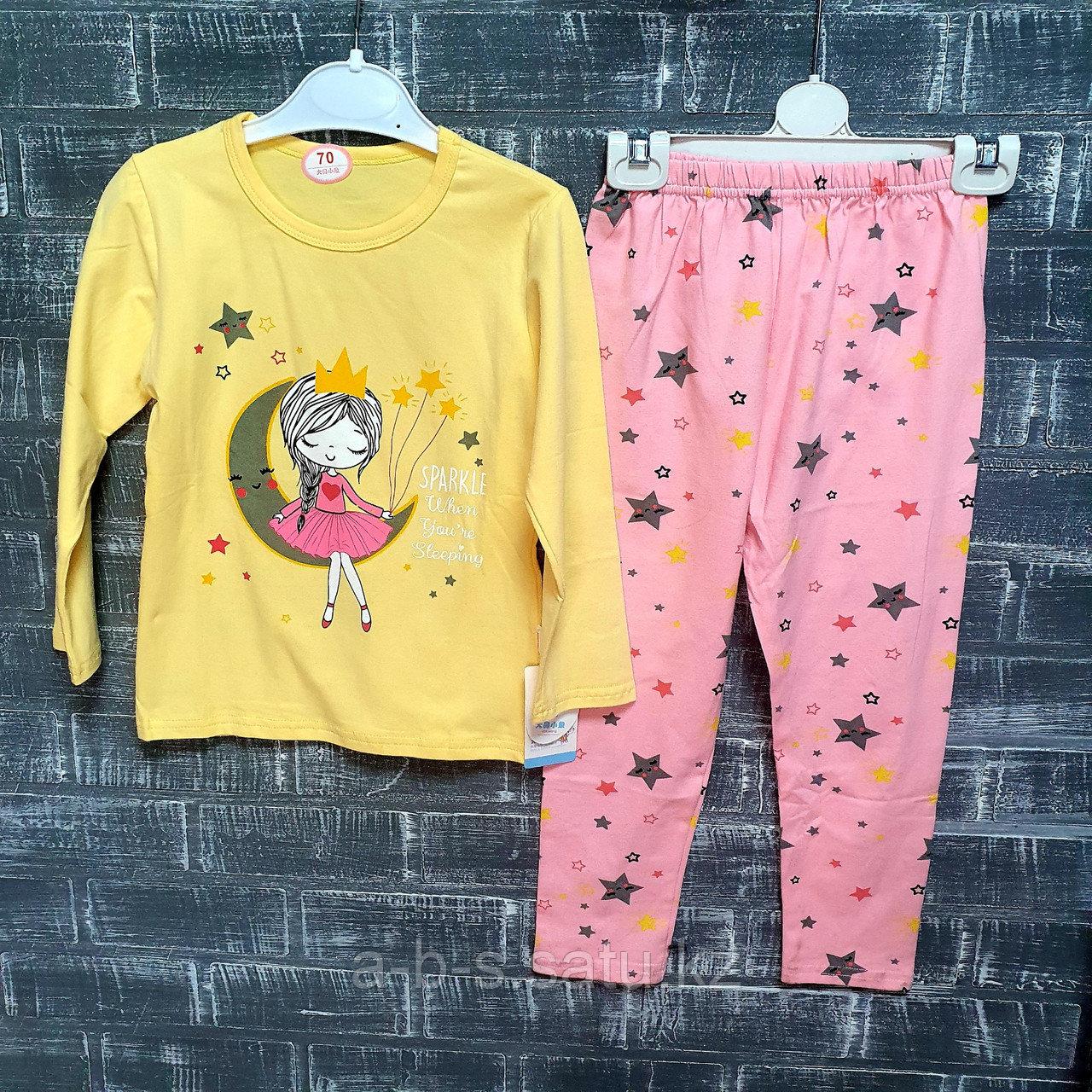 Детская пижама с девочкой (желтый верх)