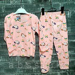 Детская пижама розовая с пони